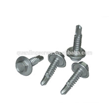 Fine thread Hex Head zinc Galvanized Self drilling screw